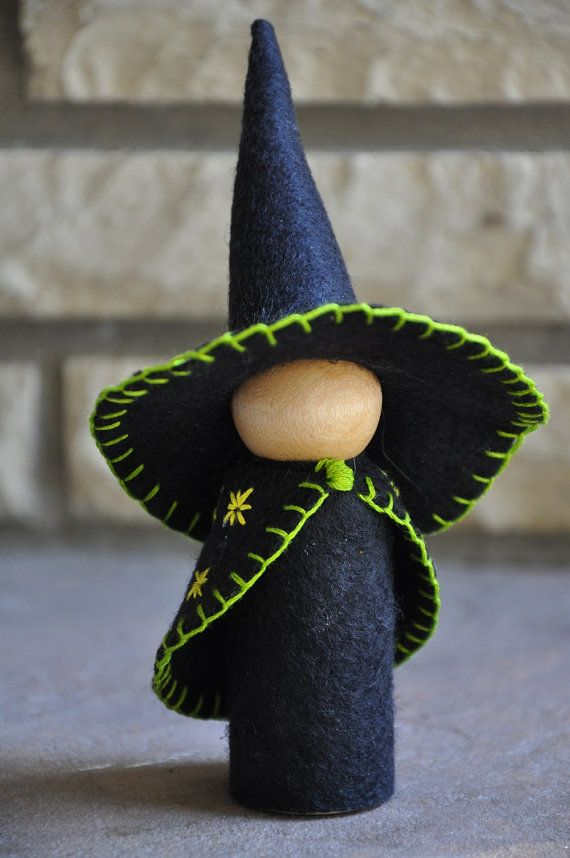 Hey, I found this really awesome Etsy listing at https://www.etsy.com/listing/200367561/wooden-and-wool-felt-witch-a-waldorf-and