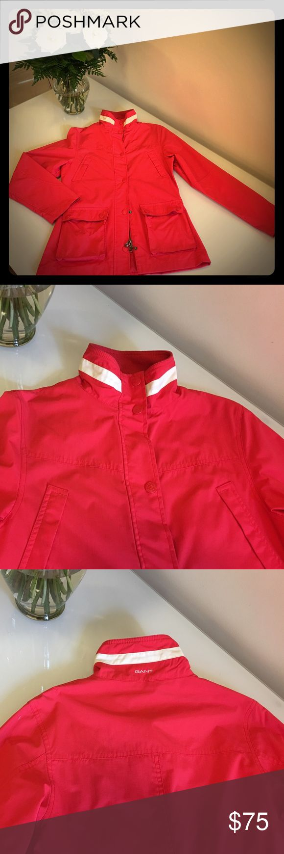 Gant Wind jacket Bright red wind jacket from Gant. Brand new. Ideal for windy days or to put over warm sweaters and go for a boat ride! Gant Jackets & Coats Utility Jackets