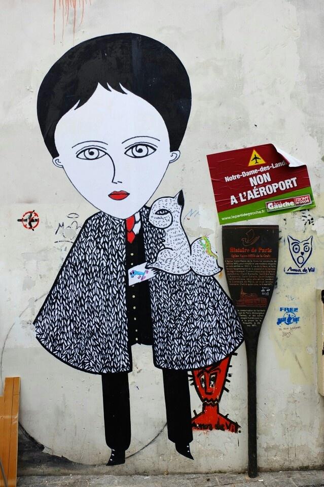 Fred le chevalier - street art - paris 20 - rue julien lacroix