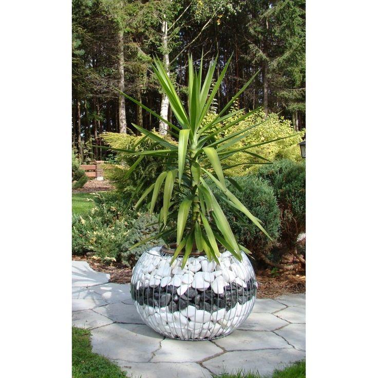 donica gabionowa - nowoczesna dekoracja dla ogrodu.