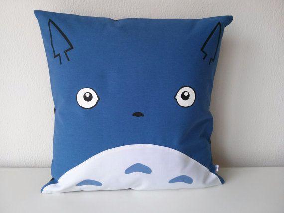 Chu Totoro Blue cuhion cover 16x16 inches 40x40cm by Morondanga, €18.00