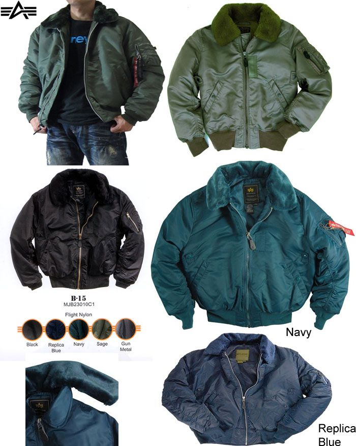 1570b1527d7 NEW - B-15 Flight Jacket by Alpha Industries. Great jacket for the colder  weather.  Alpha  punk  ayp