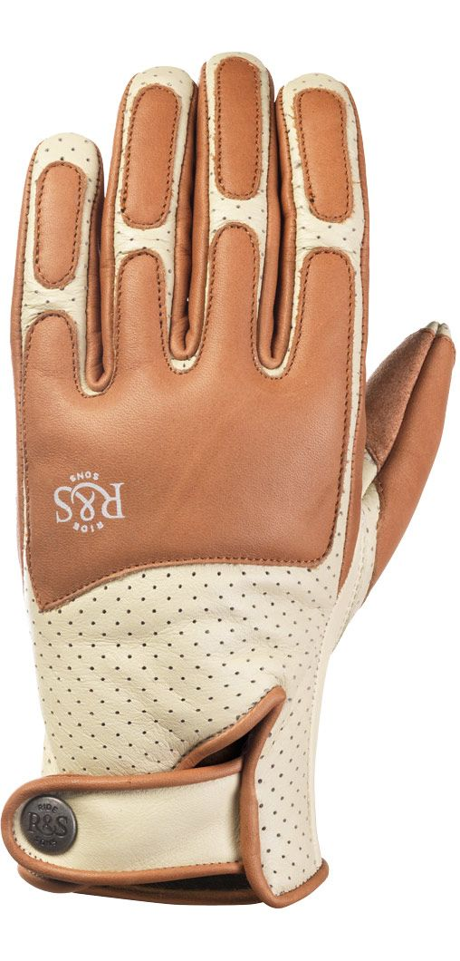 RIDE&SONS Lord Leather Gloves Cream / Camel