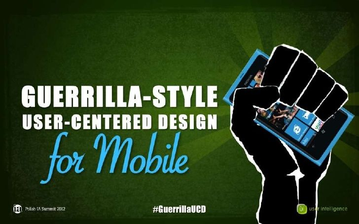 Guerilla-Style User-Centered design by User Intelligence