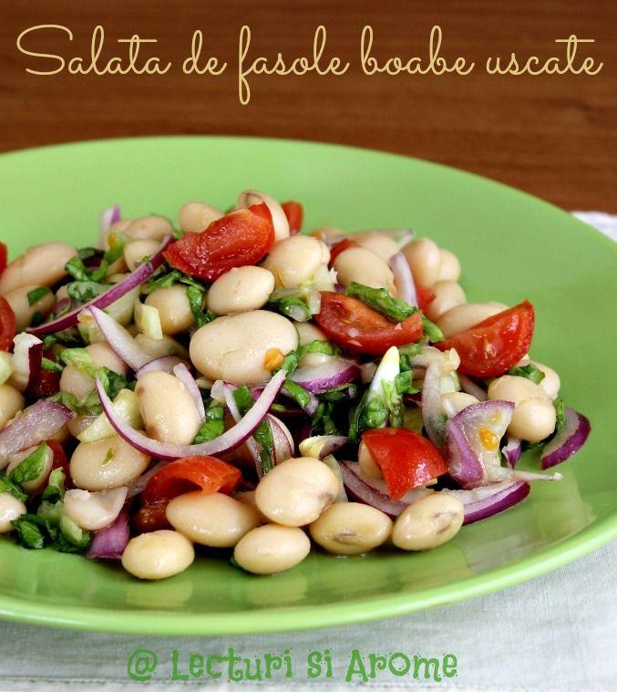 Salata de fasole boabe uscate (de post/vegan)
