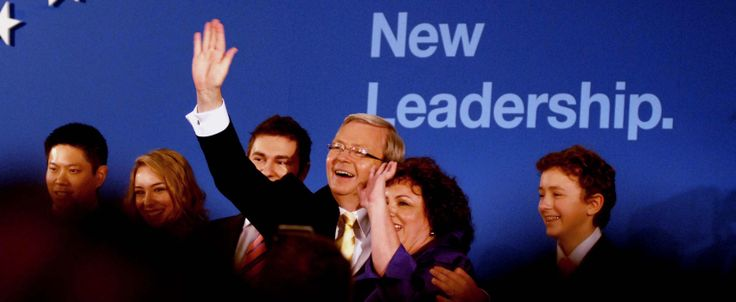Rudd becomes PM