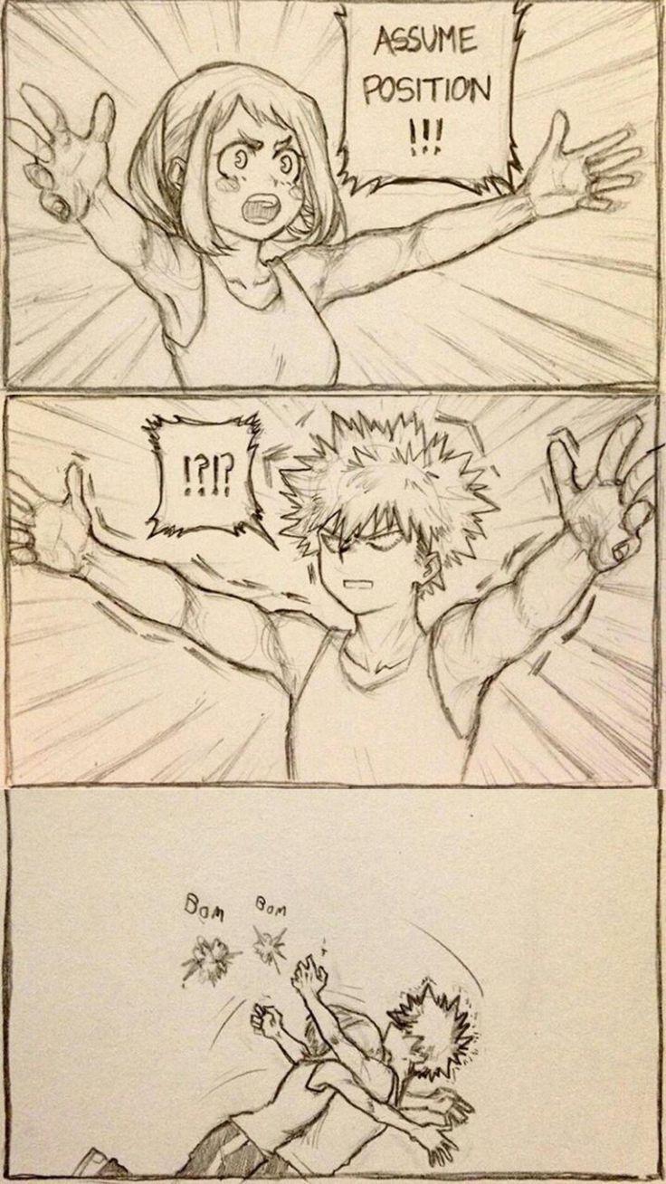 Image result for bakugou x uraraka comic | BnHA | My hero academia