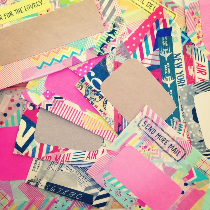 DIY washitape envelopes by paperedthoughts. Visit the blog for more pretty DIYs