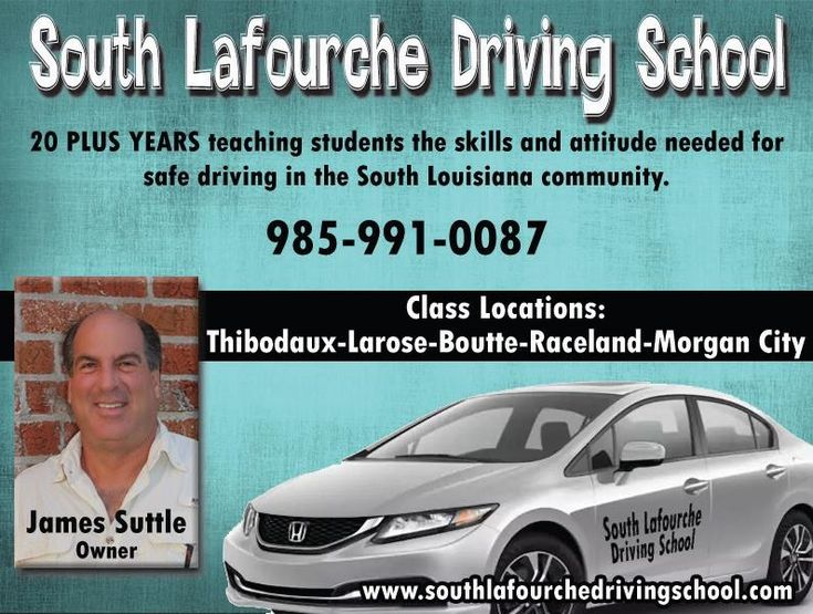 S. Lafourche Driving School is dedicated to teaching students the attitude & skills needed for safe driving.  With nearly 20 years experience, they offer driver education services at an affordable price. See Web: http://www.southlafourchedrivingschool.com/