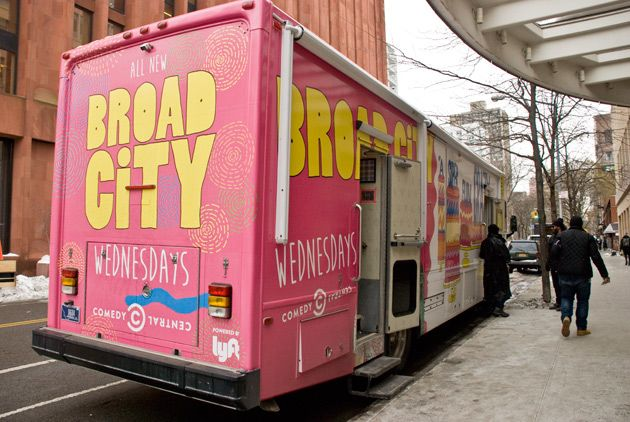 Inside Abbi's Apartment from Broad City Via RV... A replica of the Astoria apartment used for the show was roaming around Greenwich Village this week.