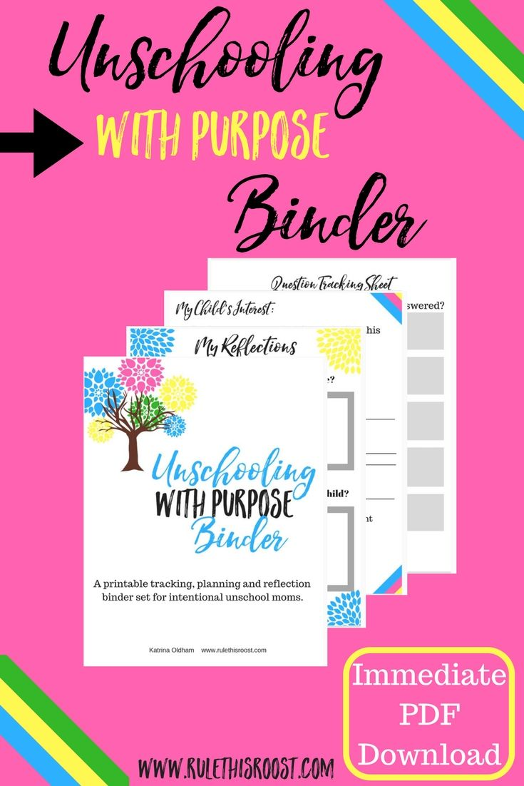 Unschooling With Purpose Binder Set  Rule This Roost