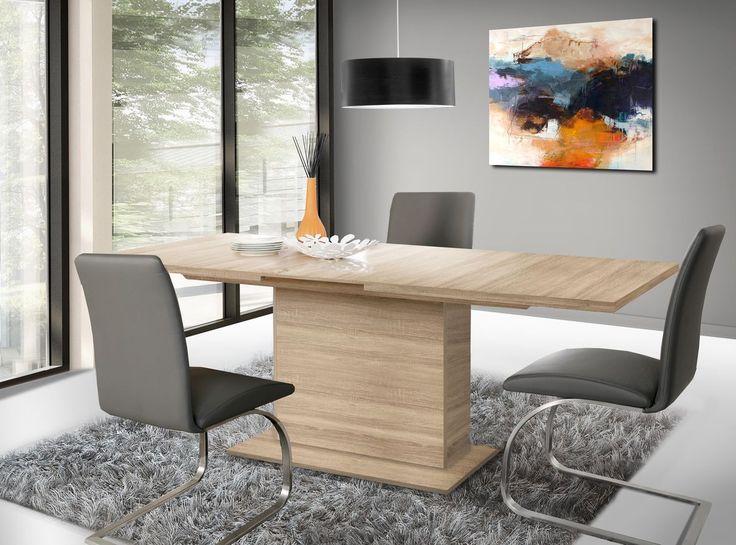 Esstisch 160 X 90 Cm Ausziehbar Sonoma Eiche Woody 77 00352 Holz Modern  Jetzt Bestellen