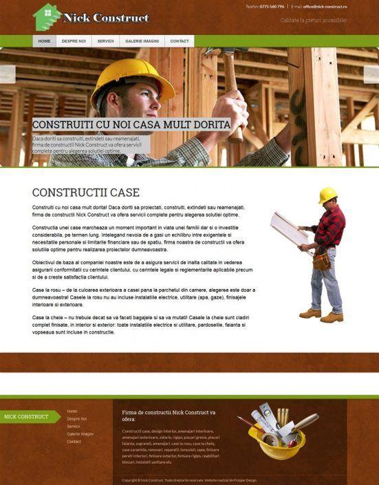 Prosperdesign Creare Site Firma de Constructii by ProsperDesignWeb.deviantart.com on @DeviantArt