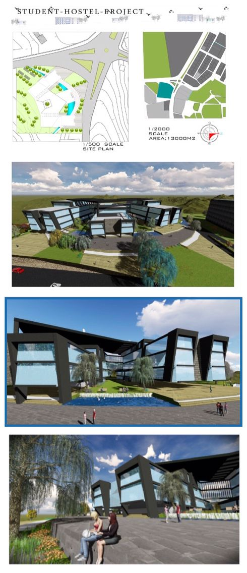 Student hostel   Ayda   architecture   project  