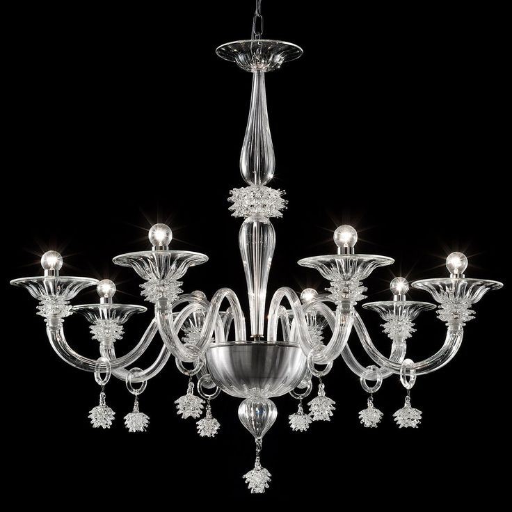 """""""Magellano"""" Murano chandelier, hand made by authentic Masters glassblowers from Murano. Made on demand. The dimensions and the colors can be customised to individual specifications. Vacuum-packing, worldwide shipping and total insurance coverage. #Murano #glass #Muranoglass #Italy #chandelier #chandeliers #Venice"""