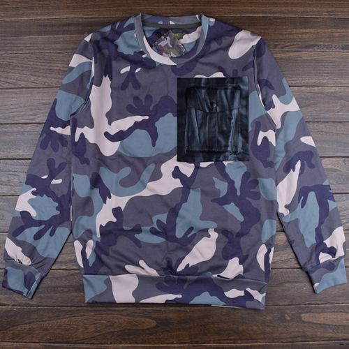 Luxury Brand Hip-Hop Camouflage fashion Sweatshirts Hoodies men  Autumn and winter new Valentins Camouflage Sweatshirts Hoodies