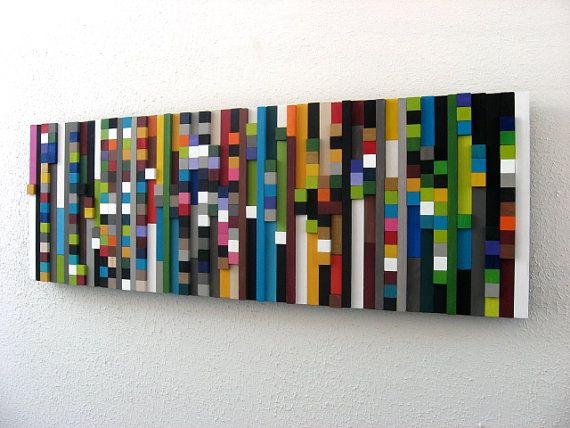 Inspiration for woven paint chip strips.