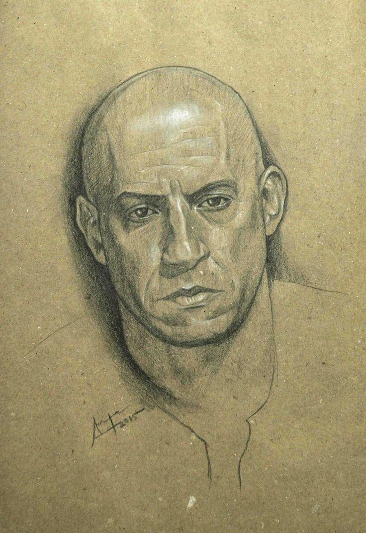 Portrait study of Vin Diesel