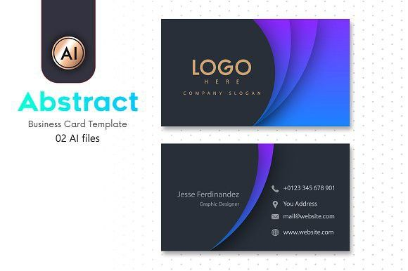 Abstract Business Card Template 10 Business Card Template Design Business Card Template Business Cards Creative Templates