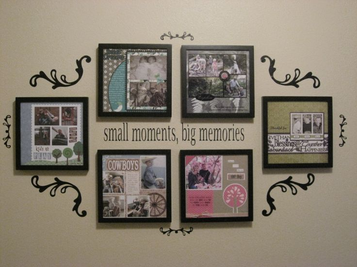 Cricut Vinyl Projects (cute picture display)