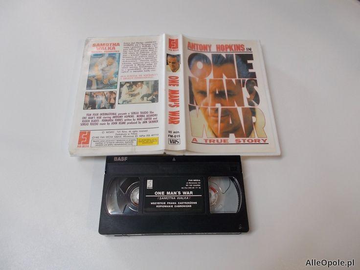 Samotna Walka - One Man's War - ANTONY HOPKINS- VHS Kaseta Video - Opole 1661 (Opole)