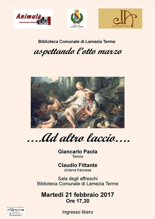 Concerto di musica da camera per voce e chitarra francese  Giancarlo Paola - tenore  Claudio Fittante - chitarra francese
