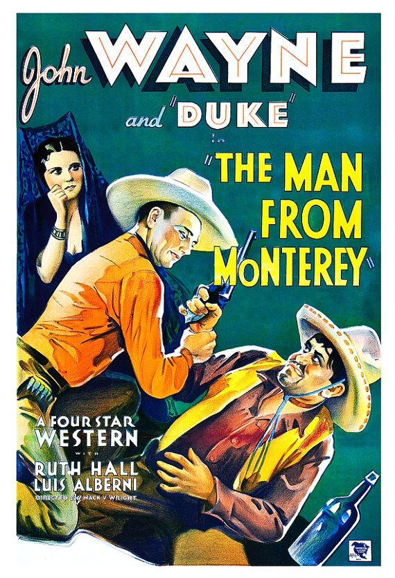 Hey, I found this really awesome Etsy listing at https://www.etsy.com/listing/125423972/john-wayne-the-man-from-monterey-home