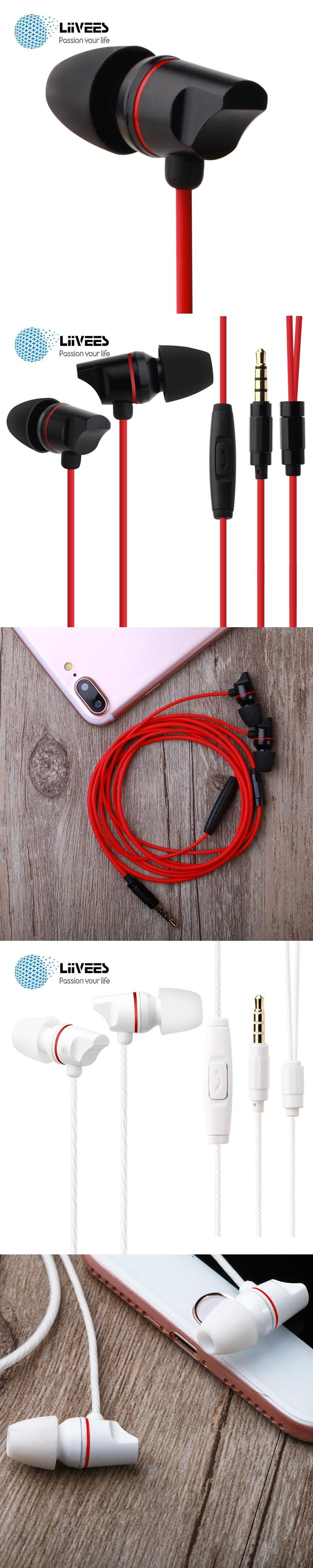 LiiVEES M12 In ear HIFI Earphones Sport gaming Wired Headset Stereo Bass beatsstudio With Mic fairy tail fashion earbuds for ps4
