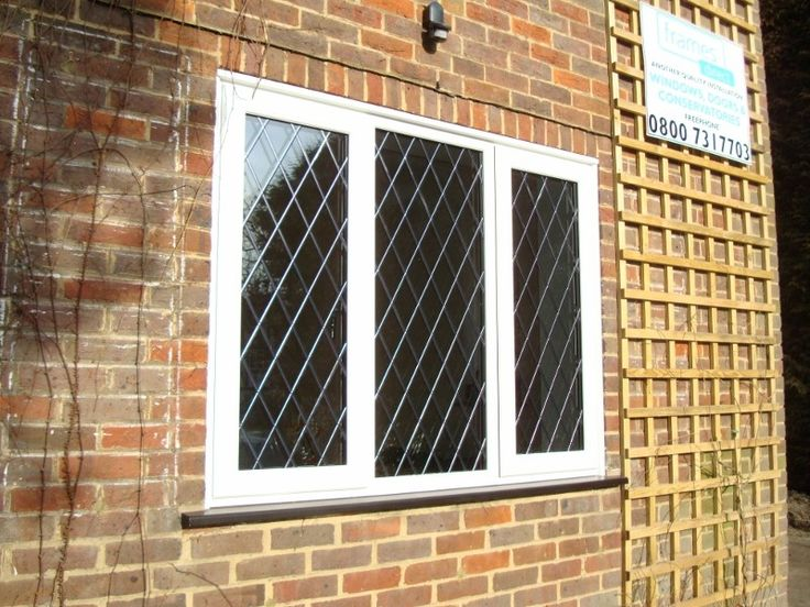 UPVC #leaded diamonds window replacement