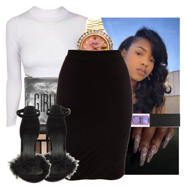 """🎓"" by kodakdej ❤ liked on Polyvore featuring Sarah Baily, Kat Von D, Rolex, Surratt and T By Alexander Wang"