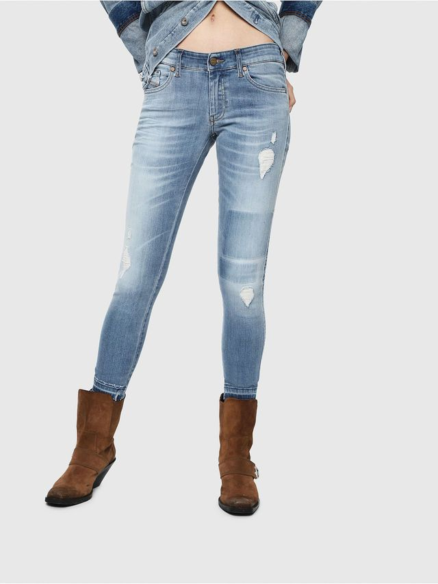 899f7543 Diesel Slandy Low 086AH Super Skinny Jeans Light Blue | Diesel ...