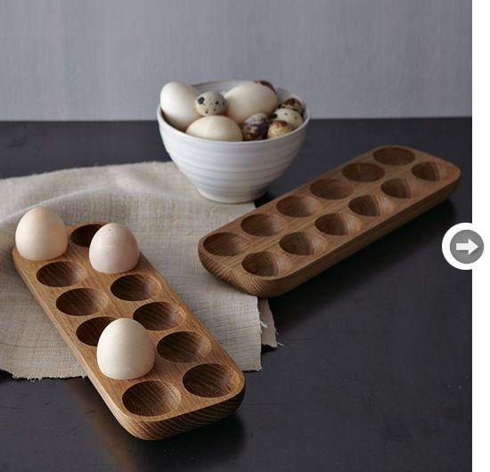Lovely wooden egg cartons