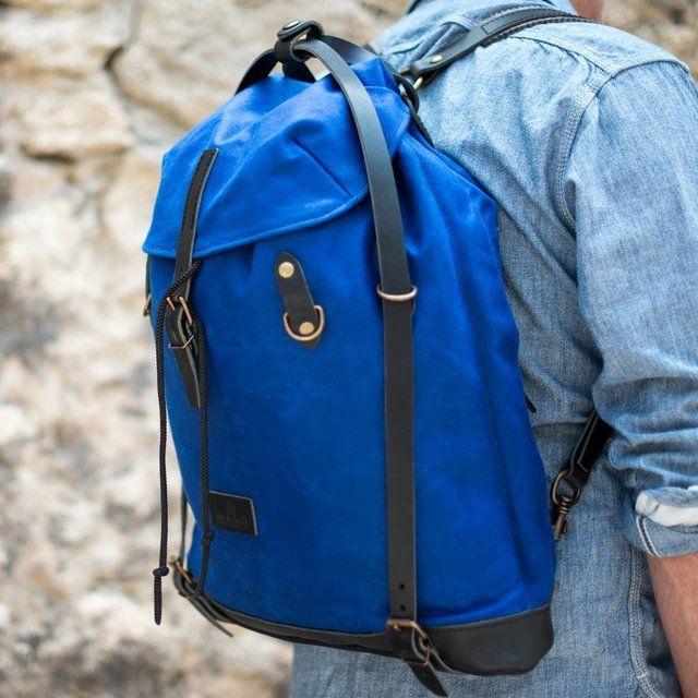Waxy Scout Rucksack by Bleu de Chauffe