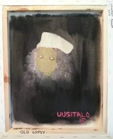 """Saatchi Art Artist Jukka Uusitalo; Painting, """"Old Gypsy 2015"""" #art"""