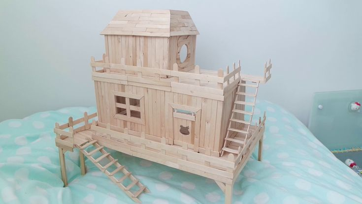 how to build a popsicle stick mansion step by step