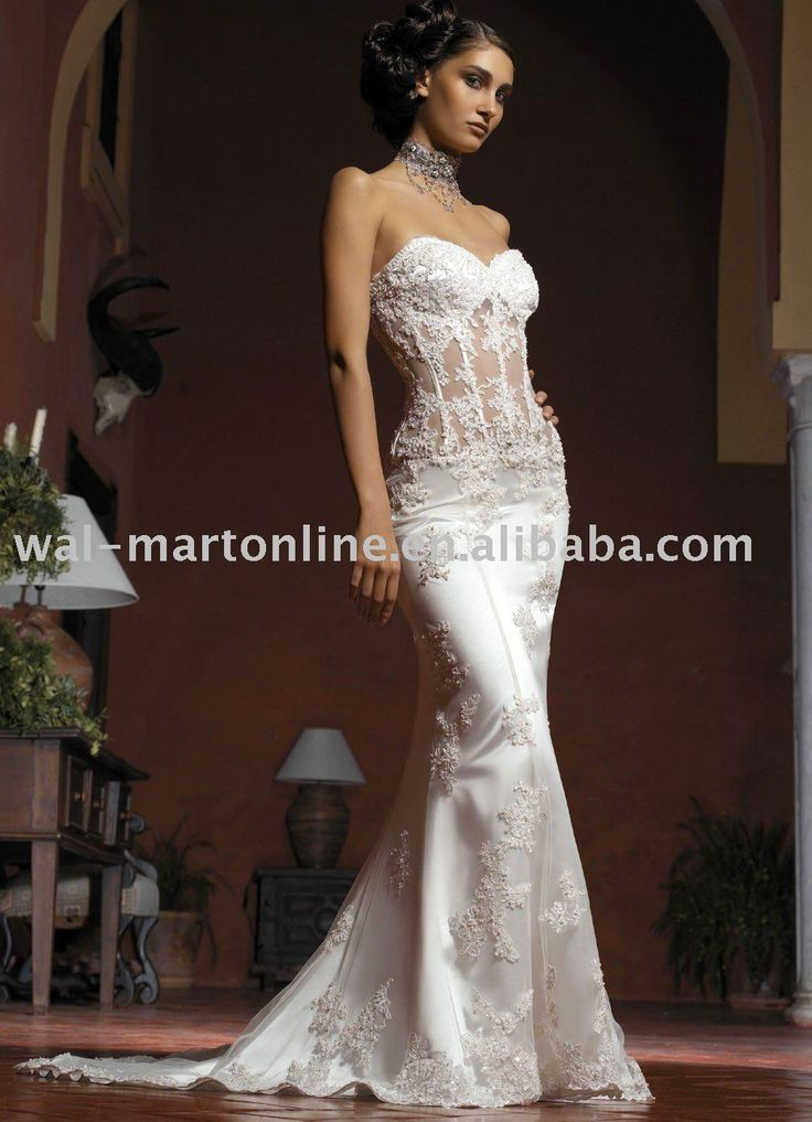 Buy free shipping vintage sweetheart for Wedding dress see through