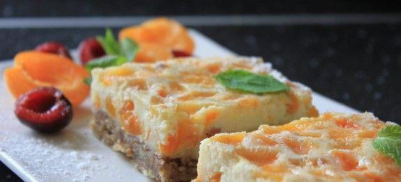 Krupicový koláč s marhuľami   mňamky-recepty.sk  na každý deň