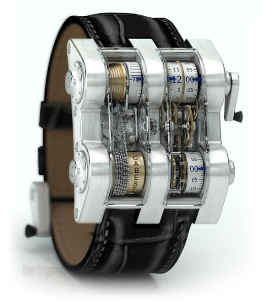 Cabestan Winch Tourbillion Vertical. This is not just an unique luxury watches, but an artwork from 1352 parts from nickel and silver. The basic model will cost you $ 275,000, also there are variants from platinum with diamonds – it is approximately $ 400,000.