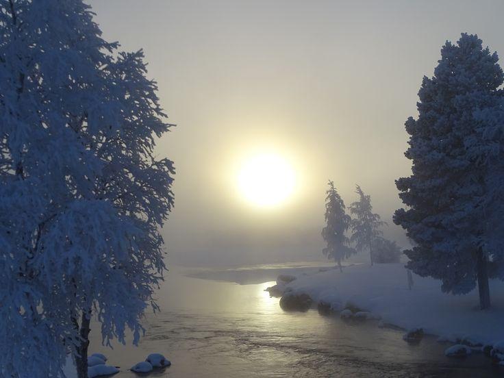 sun in the nordic winter