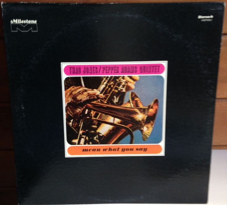 THAD JONES & PEPPER ADAMS Mean What You Say LP Milestone Fantasy MSP-9001 #PostBebop