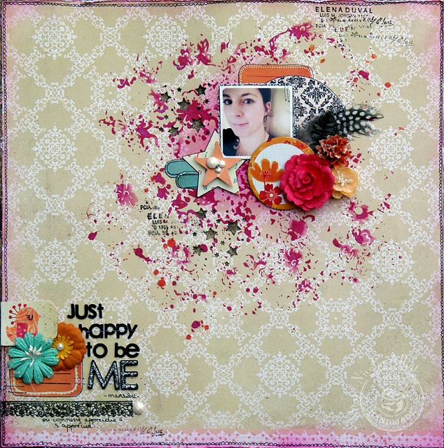 Perfect clustering !!!! nice and original picture, great choice of embellishments ! I love !