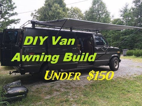 DIY Retractable Camper Van Awning Build for under $150 ...