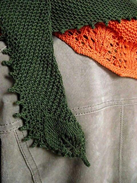 Zephyr cove, shawl orange - green