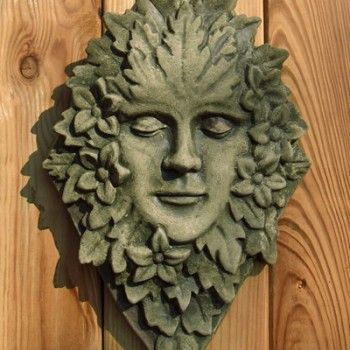 Essex Green Woman ~ Wherever there is a Green Man you will find a Green Woman bringing balance and equanimity. Feminine aspects of the energy the Green Man represents can be found in every culture throughout history. All our ornaments are made and painted by hand in our workshop in Zeeland, the Netherlands. Cast in frost-proof casting stone the Essex Green Woman is suitable for both indoors and outdoors. She is 37cm x 23cm and weighs about 1.5kg. The colour is woodland green.