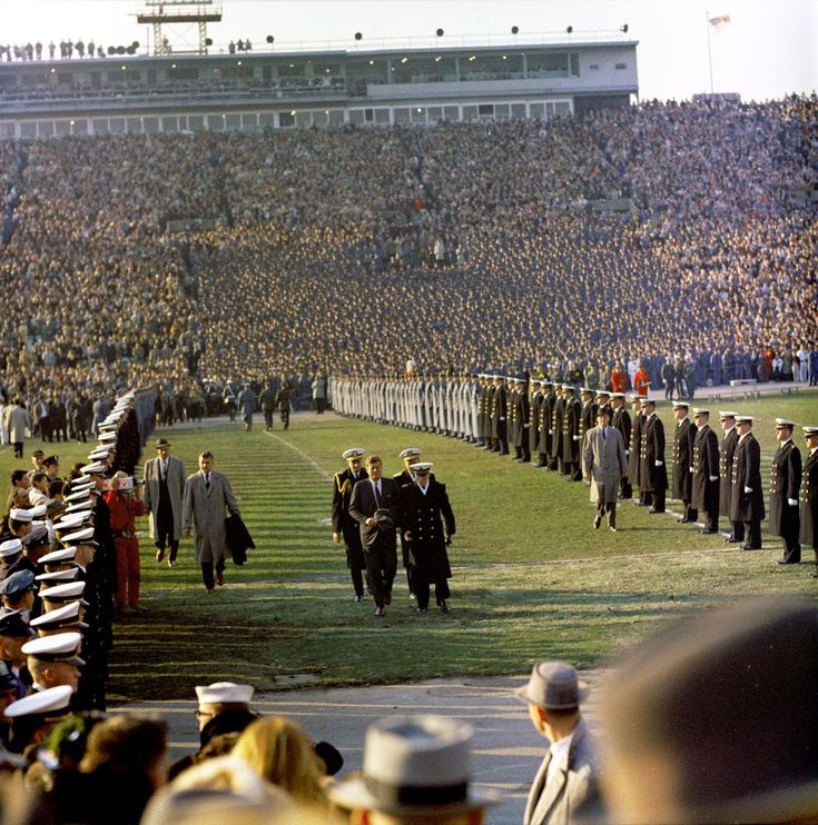 President John F. Kennedy at Army-Navy Football Game, 1961.