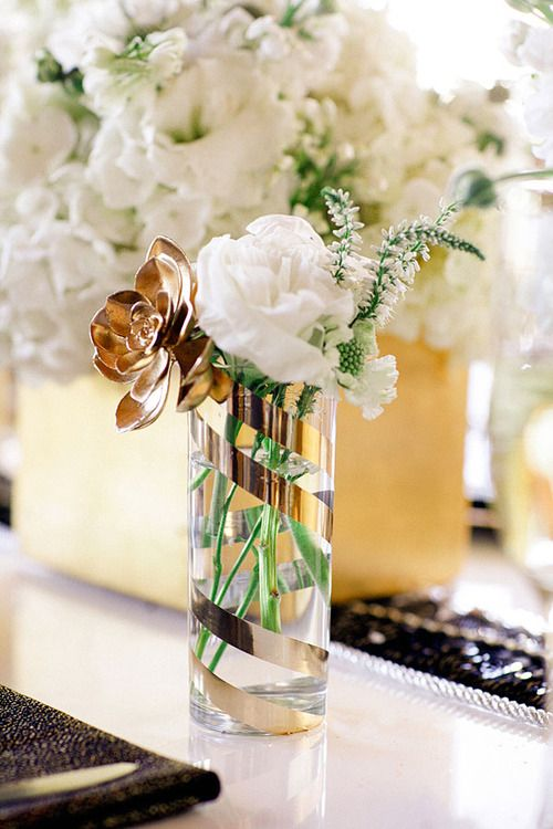 A potential DIY with a cheap glass vase and washi gold tape??