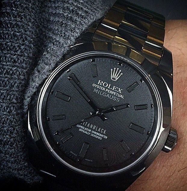Love the dial on this custom Titan Black Milgauss