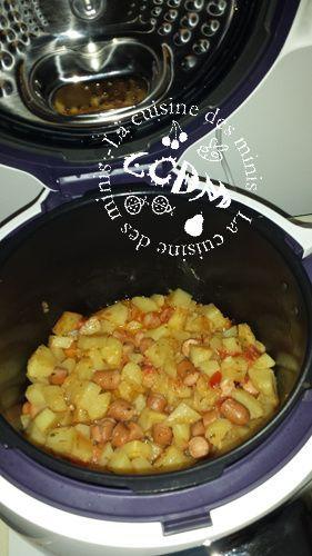 Knackis pommes de terre et tomates - Cookéo
