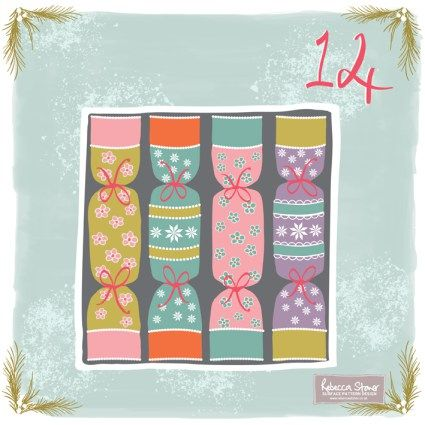 Day 14 - Colourful Christmas Crackers by Rebecca Stoner www.rebeccastoner.co.uk