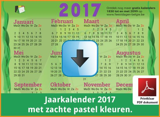 Gratis jaarkalender 2017 met